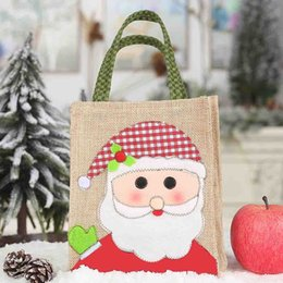 $enCountryForm.capitalKeyWord NZ - Portable Kids Sackcloth Handbag Christmas Children Candy Gift Holder Treat Bag Xmas Holiday Party New Year Supplies Decorations