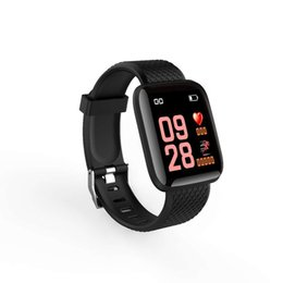 fitness watches for windows UK - I116 plus Smart Bracelet Blood Pressure Measurement Waterproof Fitness Tracker Watch Heart Rate Monitor Pedometer Smart Band Women Men