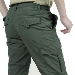 $enCountryForm.capitalKeyWord Australia - Summer Thin Breathable Multi-pocket Large Size Training Pant Men Outdoor Climbing Riding Fishing Quick Dry Overalls Long Trouser C19041201