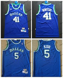 71400832a33 Vintage Dallas Kidd Mavericks Jason Kidd 5 Dirk Nowitzki 41 Basketball  Jerseys Cheap Kidd Stitched Shirts S-XXL