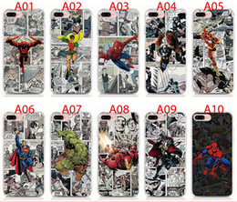 Wholesalers For Iphone Cases Australia - For iPhone XS XR XS Max X 8 7 6 Plus 5S case Hard PC and soft TPU High quality print pictures Marvel Comics back cover Phone cases 10pcs lot