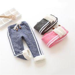 Warm Pants Boy NZ - good quality kids winter warm sports pants baby boy girl pants newborn baby trousers plus thick velvet long pants Children legging