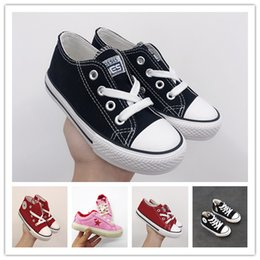 Canvas One Shoes NZ - 2019 style wholesale classic canvas shoes kids fashion One Star shoes boys and girls sports canvas and sports children shoes conver gift