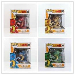 Dragon Figure Wholesale NZ - 10PCS DHL 4 Color Dragon Ball Z Funko POP Super Saiyan Son Goku 15cm dragon PVC Action Figure Model DragonBall Toy