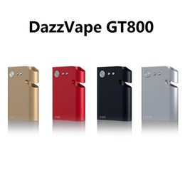 Oled Vaporizer Australia - Authentic Dazzvape GT800 Battery 800mAh Variable Wattage TC Vaporizer Box Mod With OLED Display For Thick Oil Cartridge Wax Dry Herb Tank