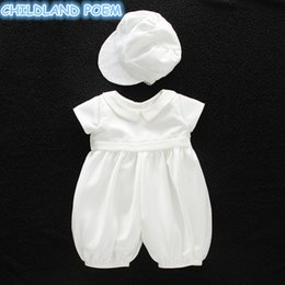 $enCountryForm.capitalKeyWord Australia - Baby Girl Baptism Gown Boys Christening Clothes 1st Birthday Party Wedding Baby Boy Clothes Dress Gentleman Baby Outfit With Hat Y190516