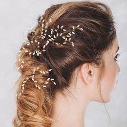 $enCountryForm.capitalKeyWord Australia - 3 Pcs Set Pearl Bride Hairpins Handmade Golden Silver Wedding Hair Pins Hair Ornaments Women's Decorations Headdress