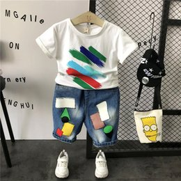 Painting Clothing Australia - Summer New Children Painted Print Graffiti T Shirt Clothes Boys Short-sleeve Tee Shirts Kids Top Tees Toddler Casual Cotton Tees Y190518