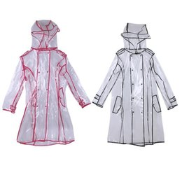 $enCountryForm.capitalKeyWord Australia - Transparent Raincoat With Belt Long Raincoat For Women Waterproof Jacket Windbreaker Rain Poncho Outdoors Raincoat Y190313