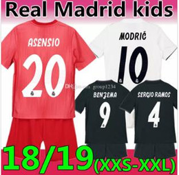 Discount soccer jersey pink - 18 19 Season MODRIC Real Madrid Kids White  Pink Soccer Jersey e821f1282