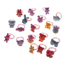 $enCountryForm.capitalKeyWord Australia - 150pcs Cute Cartoon Pattern Children Ring For Gifts Daily Random Style High Quality Size Diameter 14
