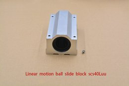 Linear Blocks Australia - SC40LUU SCS40LUU bearing 40mm linear bearing slide block for 40mm rod round shaft XYZ Table CNC 1pcs