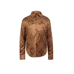 Dobby shirts men online shopping - Designer Slim Fit Shirts Medusa Men D Gold Floral Print Mens Dress Shirts Long Sleeved Business Casual Shirts Males Clothes