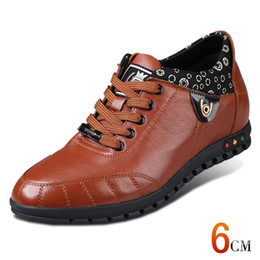 Genuine Leather Insole Australia - Discount Products Men Height Increasing Sport Shoes Genuine Leather Breathable Sneakers With Invisible Elevator Insole #115784