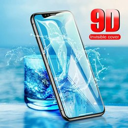 Iphone Color Glass Screens Australia - 100PCS Drop Ship For iPhone XS MAX Tempered Glass Screen Protector XS Max XR 9D Full Cover Black Color Full Glue For Iphone 7 plus 6s 8s