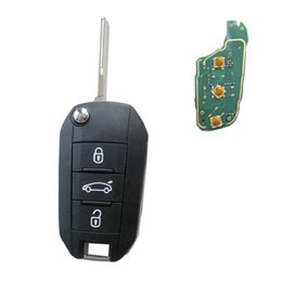 $enCountryForm.capitalKeyWord Australia - emote Key 3 Button for Peugeot 508 433MHz with ID46 Electronic Chip inside Uncut Blade HU83