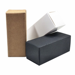 Carton paCk online shopping - 2 cm White Black Brown Kraft Paper Cosmetic Small Packaging Box Carton Board Party DIY Crafts Storage Box Lipstick Jewelry Pack Box