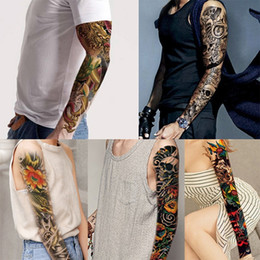 dbc3ec57d3b8a Full Arm Temporary Tattoo, Waterproof Body Tattoo Skull Tattoo Floral Tattoo  Sticker for Women Men Bikini stickers for beach in summer