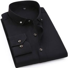 $enCountryForm.capitalKeyWord Australia - High Quality Men Casual Dress Shirt Small Collar Drill Button Design Soft Comfortable 100% Cotton Male Business Long Sleeve