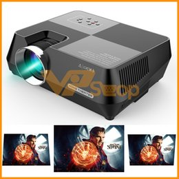 led media player Canada - 480P LED Projector 1400 Lumens 1280x720 Pixels HDMI Projektor Support 1080P Movie Beamer LCD Mini Proyector Home Theater Media Player