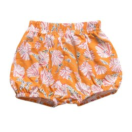 big girls short pants NZ - 0-2Y Newborn Girl Bread Pants Baby Girl Cotton Bedding Bloomers Baby Clothing Summer Bottoms Infant Big PP Shorts