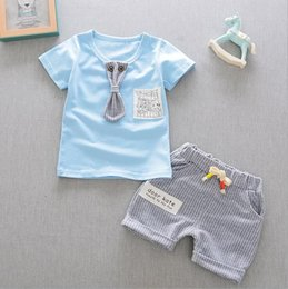 Tutu Casual Australia - Short sleeve two-piece suit for children's casual wear in summer 2019 The trend of pure cotton cool in summer for boys and girls aged 1