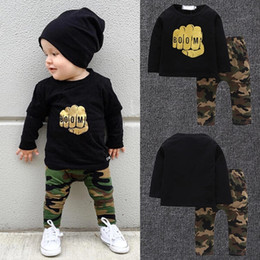 $enCountryForm.capitalKeyWord Australia - boys camouflage printing Hooded baby boy boutiques clothing kids causal wear rompers fashion 2pcs boys suits new kids wear casual clothes