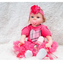 $enCountryForm.capitalKeyWord Australia - 55cm Silicone Lifelike Reborn Baby Doll Realistic Newborn Babies with Clothing Kids Playmate Best Birthday Christmas Gift