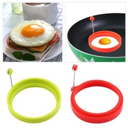 egg mould fry Canada - New Creative Round Shape Silicone Omelette Mould Shape for Eggs Frying Pancake Cooking Mould Breakfast Essential