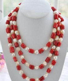 Brass cylinders online shopping - Jewelryr Pearl Necklacenatural quot mm red cylinder coral pink baroque pearl necklace