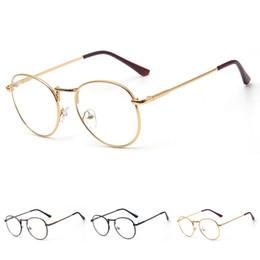 74aa97905 Unisex Retro Round Circle Metal Frame Fashion Vintage Eye Glasses Frames  Clear Lens Eyeglasses big Metal oval frame accessories