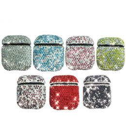 $enCountryForm.capitalKeyWord NZ - Luxury Blingbling Airpods 2 Case Bling Bling Rhinestone Protector Cover Fashion With Anti-lost Buckle for iPhone Air pods Earphone Case