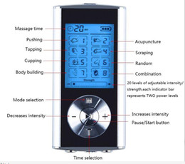 $enCountryForm.capitalKeyWord Australia - 8 Mode TENS Unit Mini Digital Electronic Pulse Massager Muscle Full Body Acupuncture Magnetic Therapy Tens Massage Silver Blue by DHL