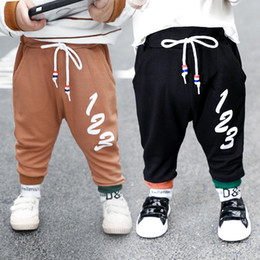 18 month old clothes online shopping - Children s wear children s pants spring baby out clothes infant children s sports pants years old boys clothes tide