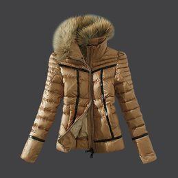 $enCountryForm.capitalKeyWord NZ - Down Jacket For Women French Brand With Raccoon Dog Fur Collar Puffy Down Coat Ladies Parka Sale Winter Feather Cloth
