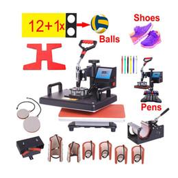 $enCountryForm.capitalKeyWord Australia - 12 in 1 Heat Press Printer Sublimation heat transfer Machine Press Machine for T-shirts Plates Cap Mug Phone Cover pen ball