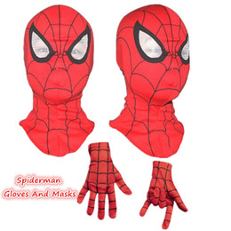 Spider Man Spiderman Mask Australia - Spiderman mask   Spider-Man Gloves Cosplay Children And Adult Cosplay Halloween Party Supplies Avengers Carnaval Costume Kids