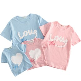 Shirt for mother daughter online shopping - 2019 Summer Short Sleeve T shirt For Mother And Daughter Cotton Women Shirt Girls Clothes Lovely Family Matching Clothes Shirt