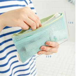$enCountryForm.capitalKeyWord Australia - Travel Cosmetic Bag Women Transparent Mesh Zipper Make Up Organizer Bag Storage Makeup Case Pouch Small Toiletry Beauty Wash