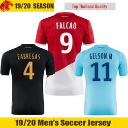 19 20 AS Monaco camisas de futebol FABREGAS 2019 2020 GOLOVIN Monaco FALCAO Camisa de futebol TIELEMAN GELSON.M Camisa venda por atacado