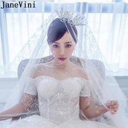 $enCountryForm.capitalKeyWord NZ - JaneVini Luxury Silver Tiara Wedding Crystal Princess Crown Leaf Bride Indian Head Jewelry Rhinestones Bridal Hair Accessories