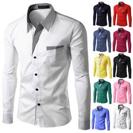 $enCountryForm.capitalKeyWord Australia - Mens shirts Camisa Masculina Long Sleeve Shirt Men Korean Slim Design Formal Casual Male Dress Shirt Size M-4XL