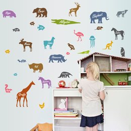 $enCountryForm.capitalKeyWord Australia - Retail 50 * 70cm wall stickers new animal silhouette casual children's bedroom can be removed wall stickers