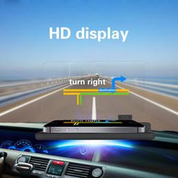 Freeshipping Universal Car HUD Staffa di navigazione GPS Supporto per telefono cellulare Grande schermo Proiettore HD a riflessione