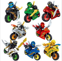 Großhandel 8 Art Phantom Ninja Serie Ninja Puzzle zusammengesetzt Blöcke Minifiguren Kinderspielzeug Puzzle zusammengesetzt Bausteine Kinder bauen