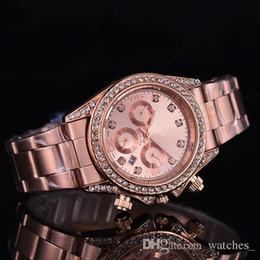 $enCountryForm.capitalKeyWord Australia - 2019 3a Famous Luxury Crystal Dial Bracelet Quartz Wrist Watch Christmas Gift for Ladies Women Gold Rose Gold Silver Wholesale Free Shipping