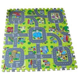 $enCountryForm.capitalKeyWord NZ - [TOP] 9pcs set City Road Garden EVA Foam puzzle Play Mat game sport Mat Rug Floor Soft Safe Crawling Carpets For Kids baby toy