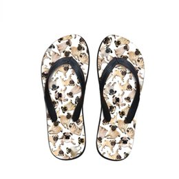 $enCountryForm.capitalKeyWord Australia - Customized Summer Flip Flops for Female Fashion Home Flipflops Casual Ladies Slippers Woman Pug Dog Print Beach Women's Shoes