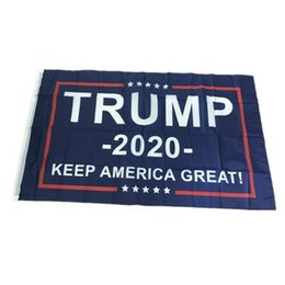 3x5 donald trump flags NZ - Trump 2020 American Polyester Flag 3x5 Foot Flag Keep America 90*150cm Keep America Great Donald for President USA Flags 50pcs
