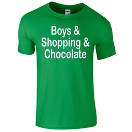 41c3dd22 Boys Shopping Chocolate Funny Tee T-Shirt Top Tumblr Novelty Gift Secret  Santa Funny free shipping Casual Tshirt top